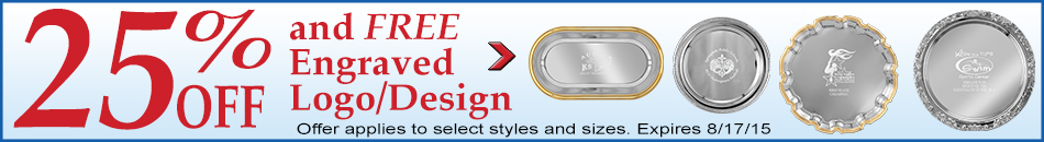25% Off Select Silver Trays & FREE engraving