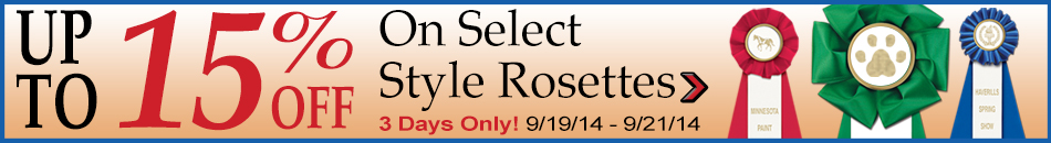 3W Rosettes on SALE