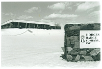 Hodges Badge Company in the snow
